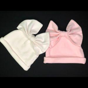 Cotton Newborn Hospital Hat Baby Girl Bow Turban